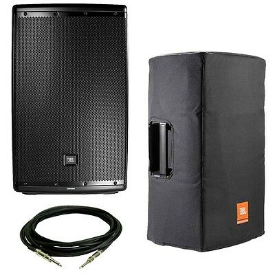 """JBL EON615 Powered 15"""" 2-Way System with Bluetooth w/ Padded Cover and XLR Cable"""