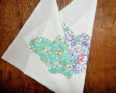 Antique Vintage Lot of 2 BUTTERFLY Quilt Blocks  c.1930