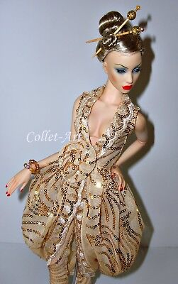 """Gen X Vinyl 16"""" Sybarite Dalston Doll + Ooak Outfit 4 Wigs Orig Box Stand Hands"""