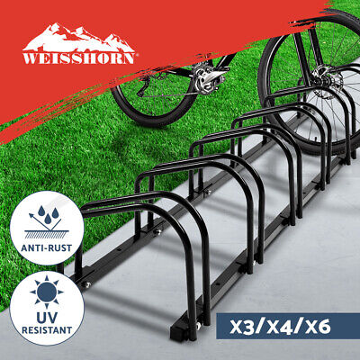 1 – 6 Bike Floor Parking Rack Instant Storage Stand Bicycle Cycling Portable