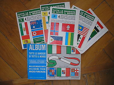 Courier Dei Small Album Tutte Le Flags Of All The World Complete 1966