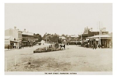 FRANKSTON Town Centre Nepean Hwy c1910 modern Repro digital Photo Postcard