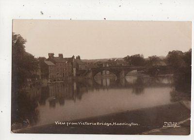 View From Victoria Bridge Haddington East Lothian Scotland RP Postcard  643b