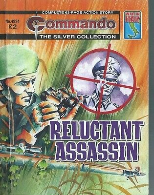 Reluctant Assassin,commando The Silver Collection,no.4934,war Comic,2016