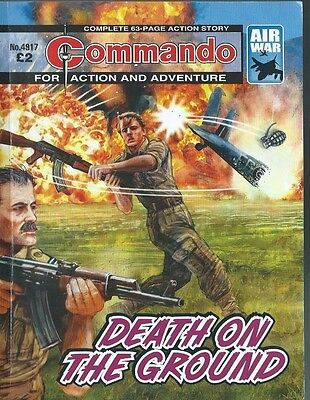 Death On The Ground,commando For Action And Adventure,no.4917,war Comic,2016