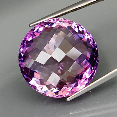 30.54Ct.Real GIANT Amethyst Bolivia None Treatment Round 20.4mm.Full Fire&Clean!