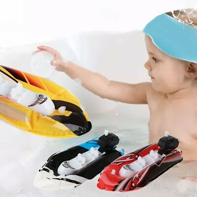 Kid Baby Clockwork Wind Up Inflatable Boat Ship Bathroom Play Water Bath Toy New