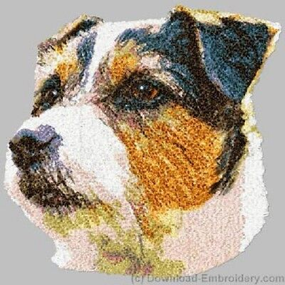 Large Embroidered Zippered Tote - Jack Russell Terrier DLE2499