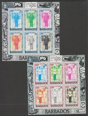 Barbados - 1980, London '80 Stamp Exhibition sheets x 2 - MNH - SG MS659