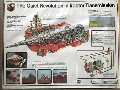 David Brown Tractor Poster 'Quiet Revolution Tractor Transmission'