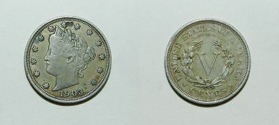U.s.a.  1903 Liberty V Nickel - Nice Detail