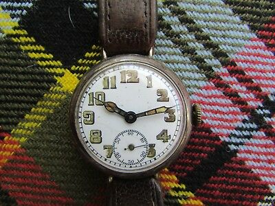 WW1 solid silver trench watch