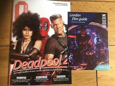 Deadpool 2-Odeon Magazine May 2018-Jurassic Park-Star Wars Story+Timetable