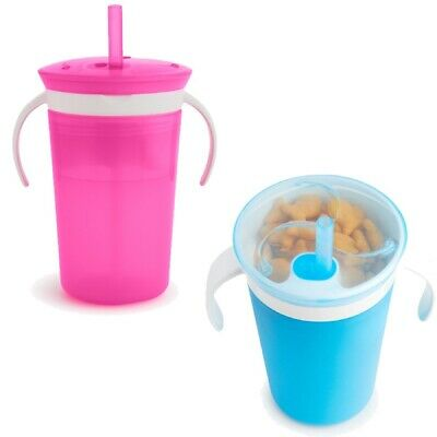 Steady Munchkin Click Lock Chew Proof Sippy Cup 284ml Pink Baby