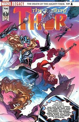 The Mighty Thor Comic 700 Marvel Legacy 2017 Death of Mighty Thor Part 1