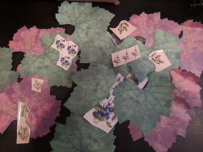 Large Lot of VINTAGE!  Ceramic Water Mount Transfer Decals & Leafs  Designs #1