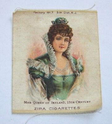 Early 1900s ZIRA CIGARETTES TOBACCO SILK, Mab Queen of Ireland 15th C, Vintage
