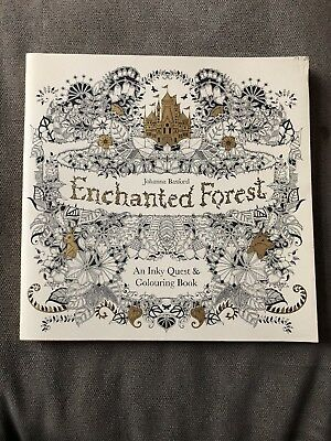 ENCHANTED FOREST AN Inky Quest And Colouring Book By Johanna