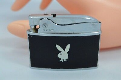 Vintage Collectible 1960's  White on Black PLAYBOY BUNNY LIGHTER #M