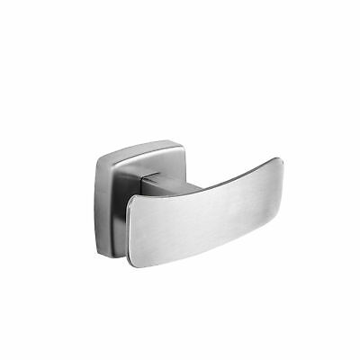 "Double Robe Hook Stainless Steel Satin Finish 3-15/16"" W by Dependable Direct"