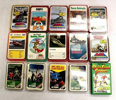 Vintage Collection Of x15 Assorted TOP TRUMP Card Decks  - E36