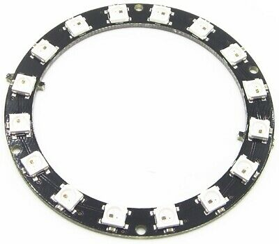 16 Pixel WS2812 5050 RGB LED Ring Strip Works with NeoPixel Library
