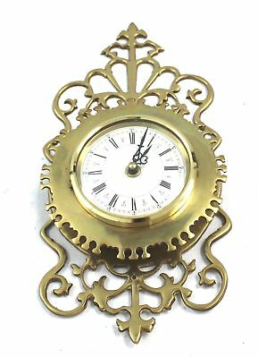 Vintage Traditional Style Solid Brass WALL CLOCK - Spares & Repairs - C63