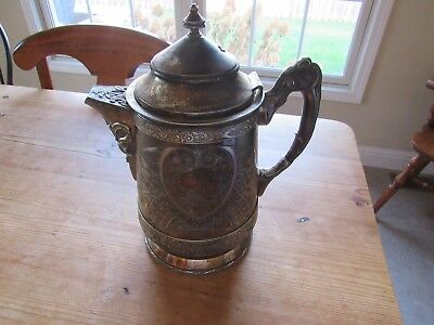 Antique Hartford Silverplate Co. Pitcher , Quadrum, 1358 marked