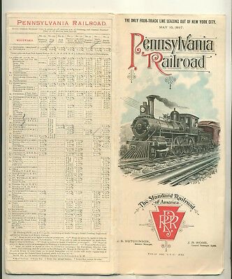 May 16 1897 Pennsylvaina Railroad Timetable & Route Map