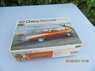 Rare Vintage Revell '57 Chevy Nomad 1/25 Scale Model Car Kit H-1260  made in 69'