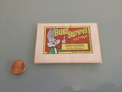 1971 Vintage BUGS BUNNY temporary TATTOOS new & unused RARE Topps looney tunes