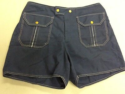 Vintage 60S 70S State Of Maine John Weitz Pool Pants Blue Trunks Shorts Mens 42