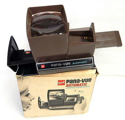 Vintage Gaf Pana Vue Lighted 2 x2 Slide Viewer MIB Clean