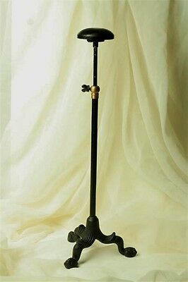 ADJUSTABLE SHOPKEEPERS HAT or WIG DISPLAY STAND MILLINERY ANTIQUE VINTAGE STYLE