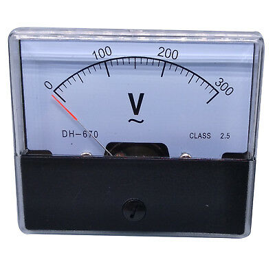 US Stock Analog Panel Volt Voltage Meter Voltmeter Gauge DH-670 0-300V AC