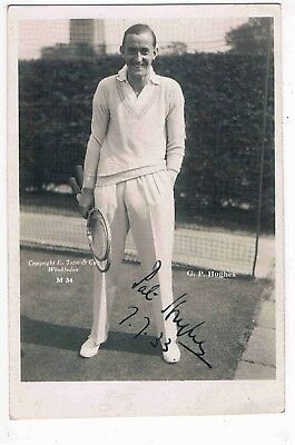TENNIS - R/P - GEORGE PAT HUGHE, ENGLISH TENNIS PLAYER, DOUBLES CHAMPION,  1930s