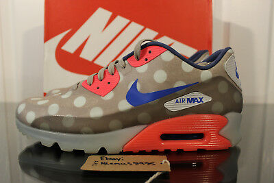 RARE NIKE AIR Max 90 Ice NYC Dots Punch Blue Rare Size 10.5 667635 001 OFF WHITE