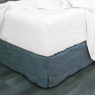 Plain White Fitted Sheet Soft Vintage Washed Bed Sheet Single/Queen/King Size