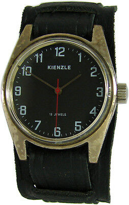 Kienzle Handaufzug Herrenuhr schwarz made in germany vintage mens watch 16Jewels