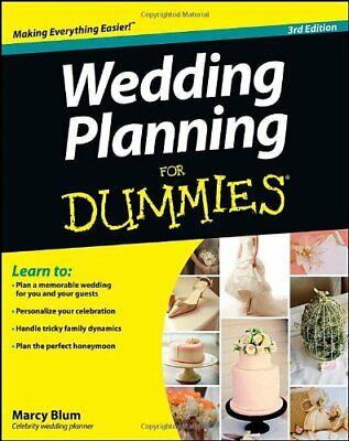 Wedding Planning For Dummies by Blum, Marcy Book The Cheap Fast Free Post