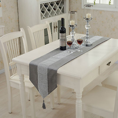 Flannel Diamond Table Runner Wedding Party Supplies Banquet Tablecloth Decor