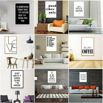 Modern Nordic Life Letter Style Canvas Art Poster Print Wall Picture Art Decor T