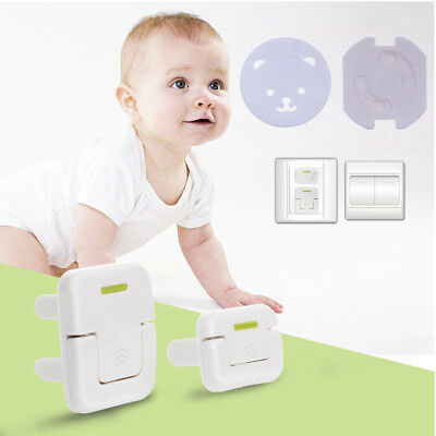 10x EU Safety Socket Cover Electric Outlet Plug Baby Child proof Cover Caps ABS