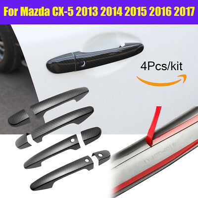 Carbon Fiber Style Handle Cover Trim for Mazda CX-5 2013 2014 2015 2016 2017