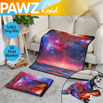 S/M/L Size Soft Pet Blanket 3D Print Bed Mat Pad Cover Cushion For Dog Cat Puppy
