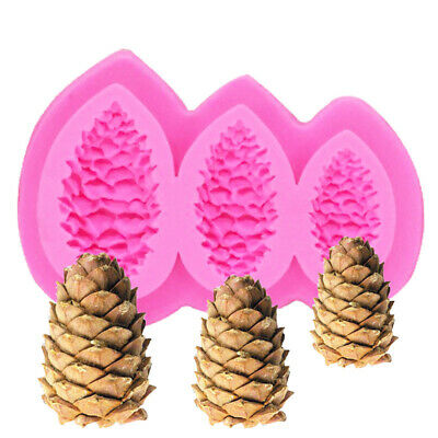 3 In 1 Pine Nuts Silicone Fondant Mould Cake Decoration Sugarcraft Baking Mold