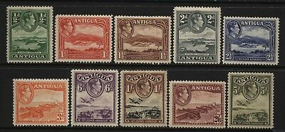 Antigua Collection 10 KGVI Values (½d - 5/-) Mounted Mint