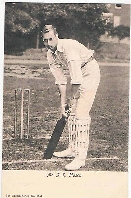 CRICKET - JACK MASON, KENT COUNTY PLAYER & ENGLISH TEST CRICKETER, 1900s
