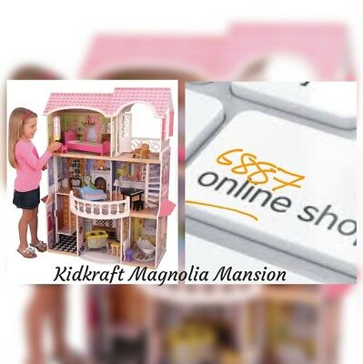 KidKraft Magnolia Mansion Wooden Dolls House - brand new boxed. 3 levels.