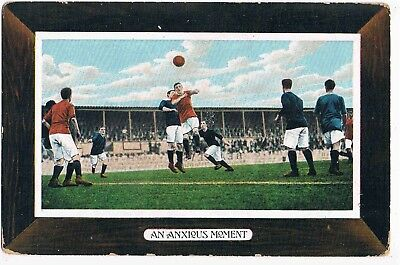 "ILLUSTRATED POSTCARD FOOTBALL RELATED - ""AN ANXIOUS MOMENT"" c1910"